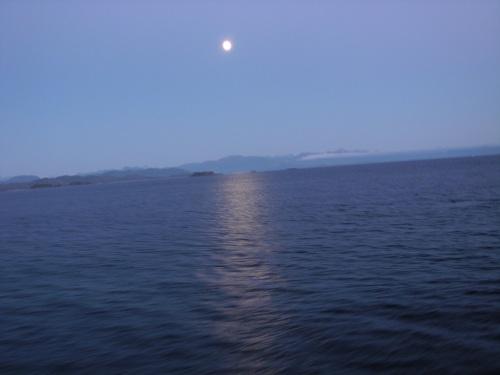 Full Moon, Intercoastal waterway, Alaska