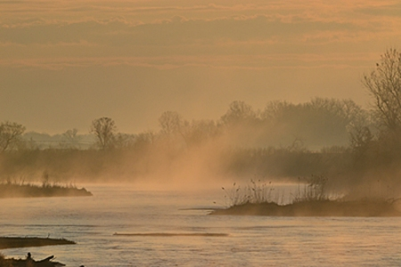 Platte River, Early Morning, Nebraska, 2012