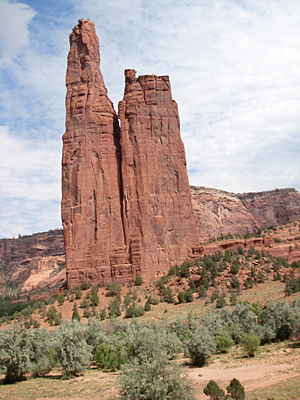 Spider Rock in Canyon de Chelly Navajo Indian Reservation, Arizona, 2007
